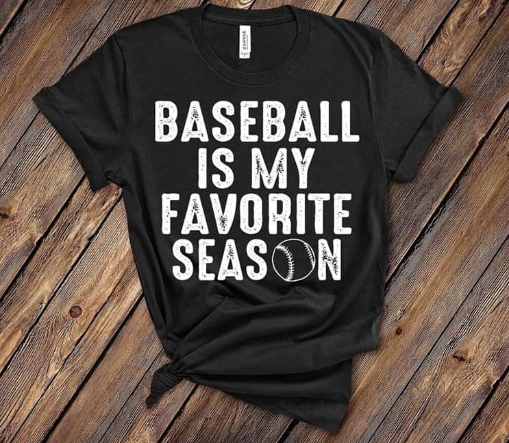 BASEBALL IS MY FAVORITE SEASON (BLACK)