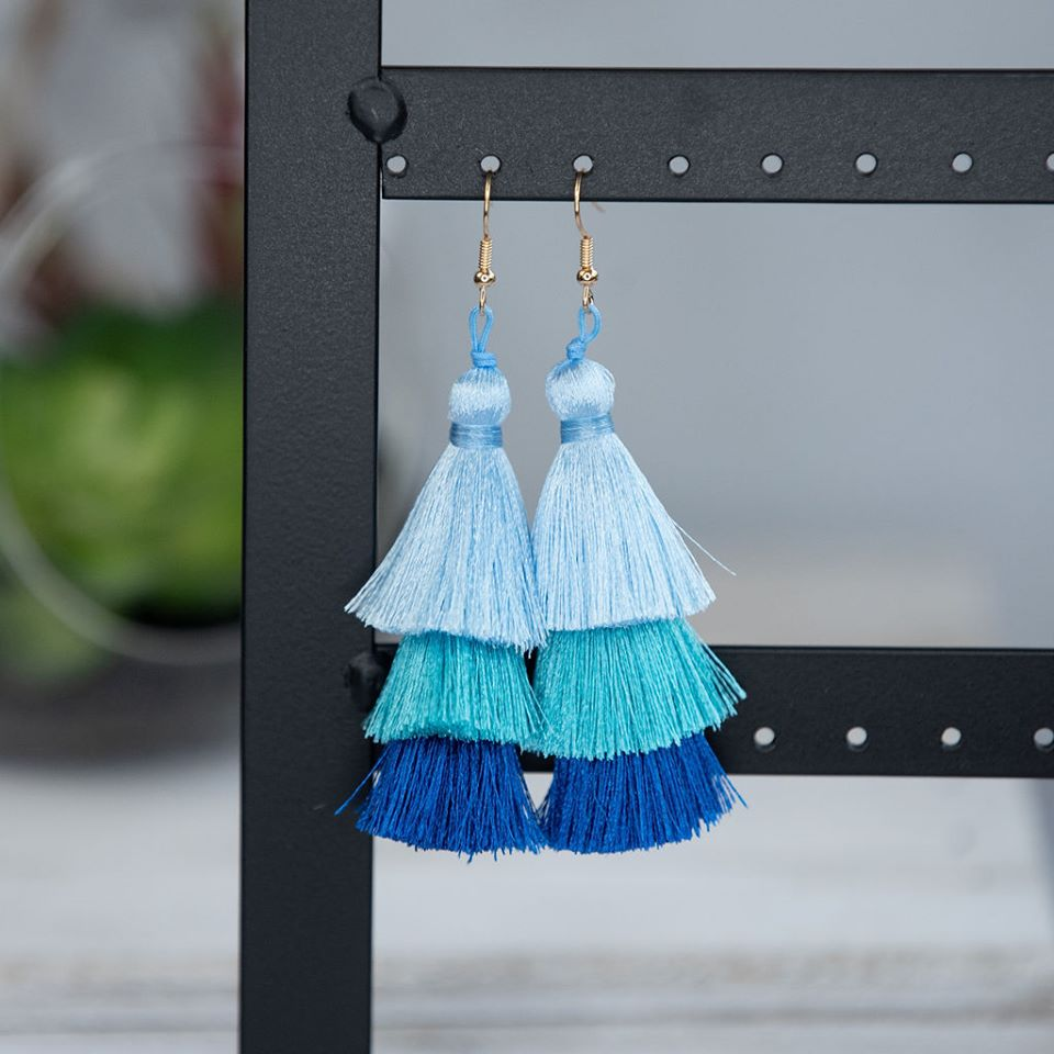TASSEL EARRINGS; EVERYTHING BUT THE BLUES