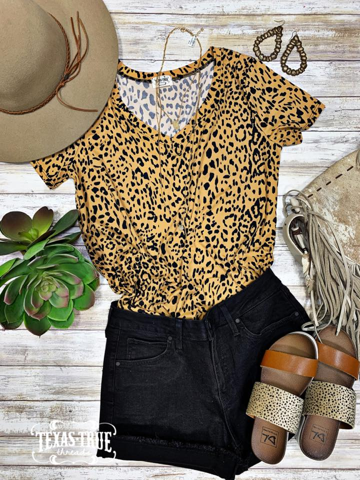 TTT; YOUR FAVORITE LEOPARD VNECK